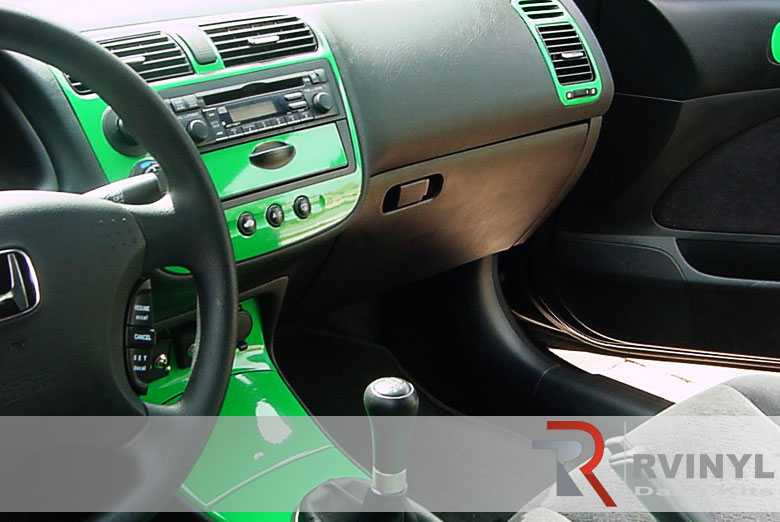Honda Civic 2001 Green Dash Kit