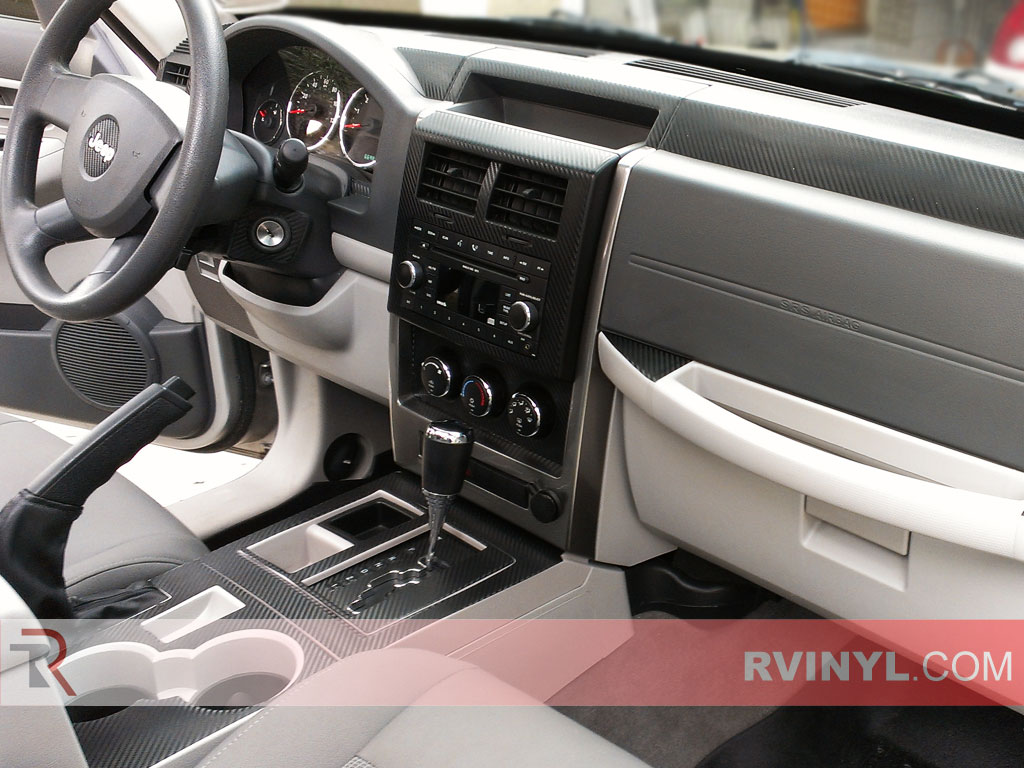 Jeep Liberty 2008-2012 Dash Kits With E-Brake Handle Cover Trim