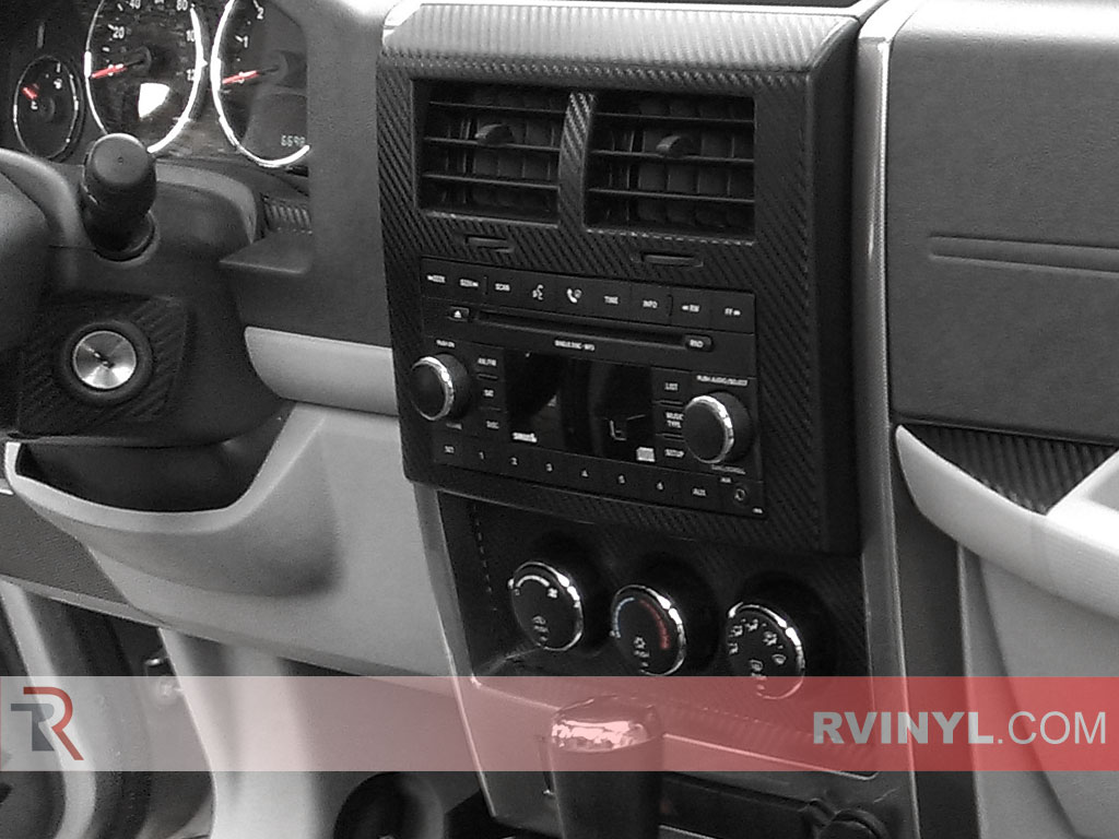 Jeep Liberty 2008-2012 Dash Kits With Heater Control Trim