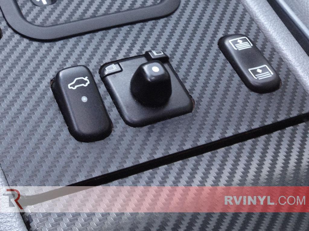 Rvinyl Rdash Dash Kit Decal Trim for Mercedes-Benz E-Class 1996-2002 Aluminum Brushed Black