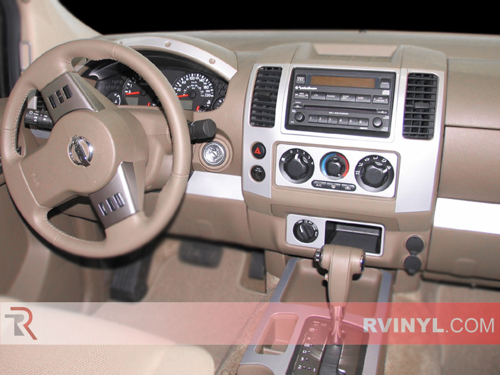 Nissan Frontier 2005-2008 Aluminum Dash Kits With Shifter Trim