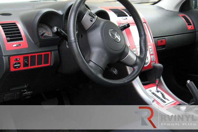 Scion tC 2005 Red Carbon Fiber Dash Kit