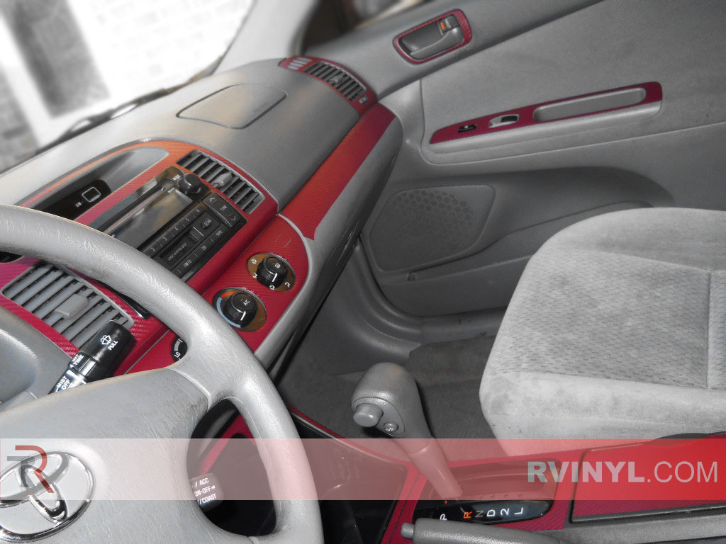 Toyota Camry 2002-2006 Dash Kits With Red Carbon Fiber Finish