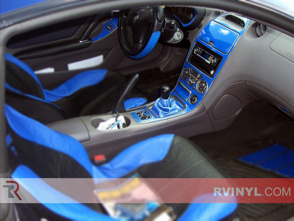 Rvinyl Rdash Dash Kit Decal Trim for Toyota Celica 2000-2005 Brushed Gunmetal Aluminum