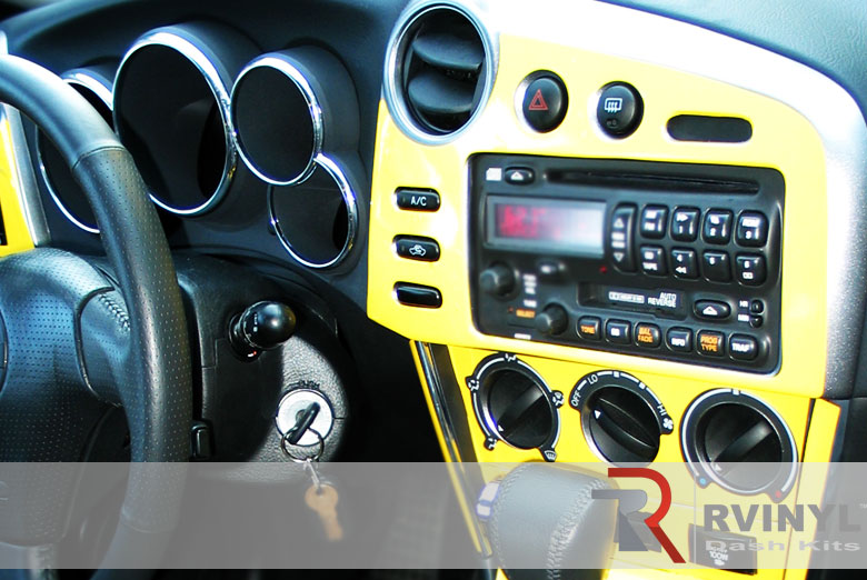 Toyota Matrix 2003 Yellow Dash Kit