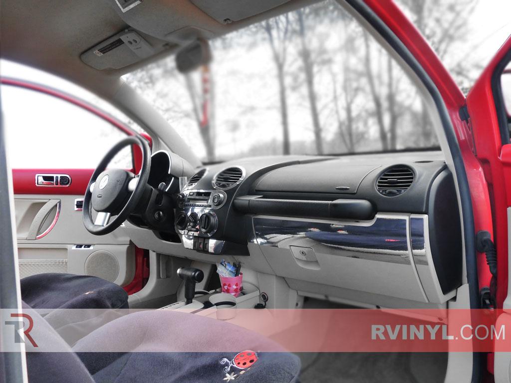 Rvinyl Rdash Dash Kit Decal Trim for Volkswagen Beetle 1998-2002 Burlwood Dark Wood Grain