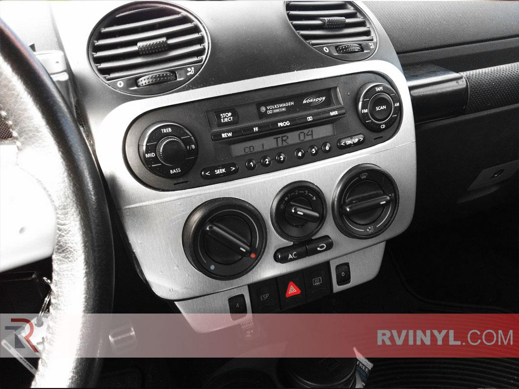 Volkswagen Beetle 2003 2005 Brushed Aluminum Dash Kits With Factory Radio Trim
