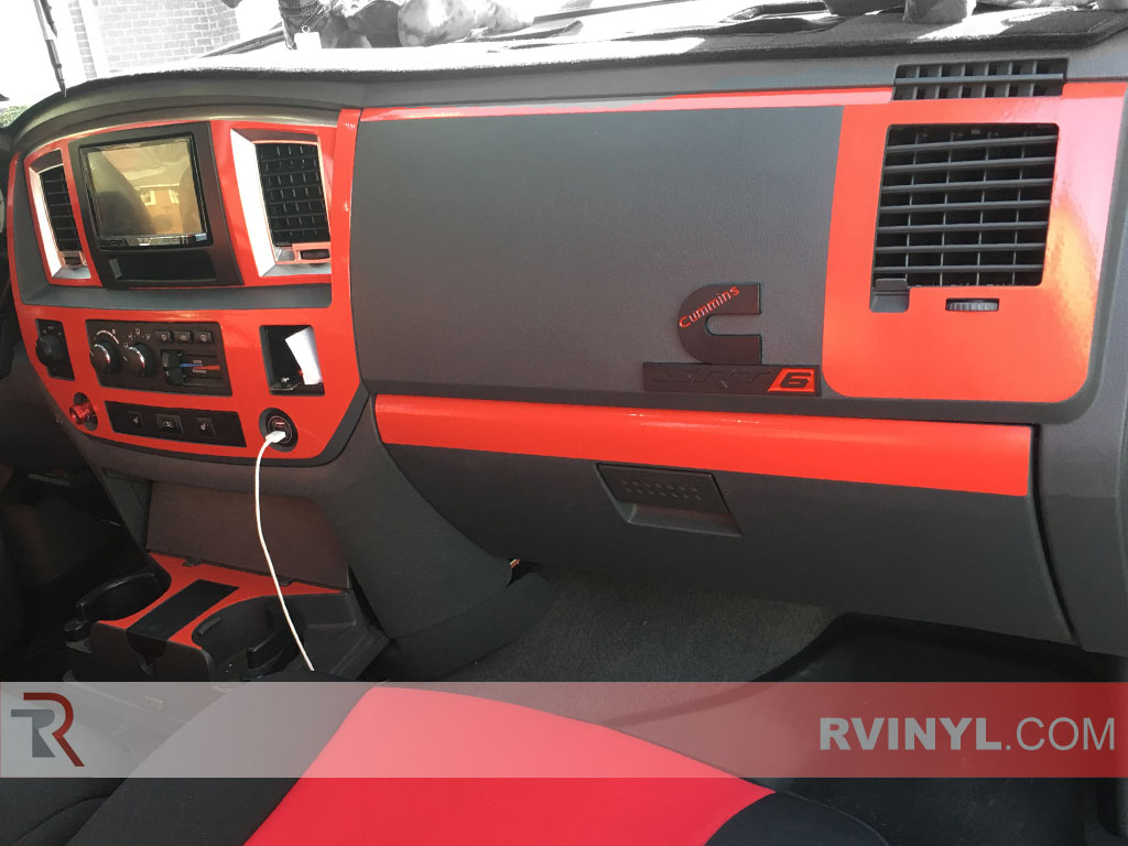 Rdash 2006 2008 Dodge Ram 1500 Dash Kit Gloss Red