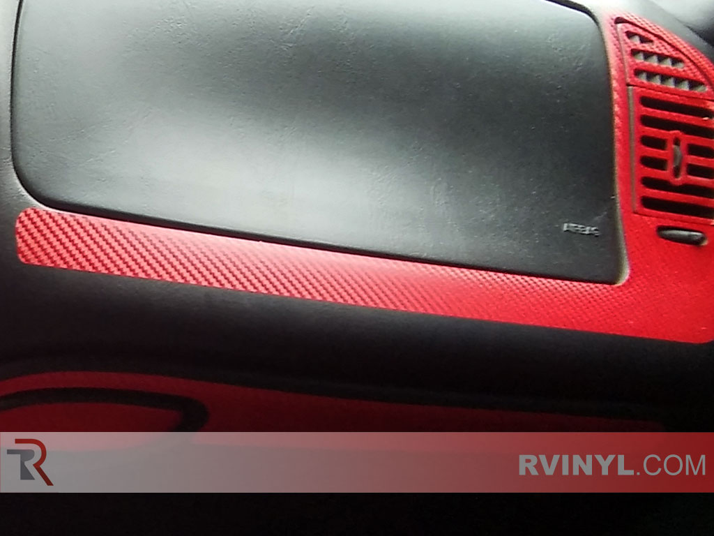 ford f 150 1997 1998 dash kits with red carbon finish