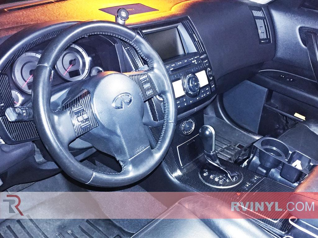 Infiniti fx35 2006 2008 dash kits diy dash trim kit 2006 2008 infiniti fx35 dash kit 4d carbon fiber dash kit vanachro Choice Image