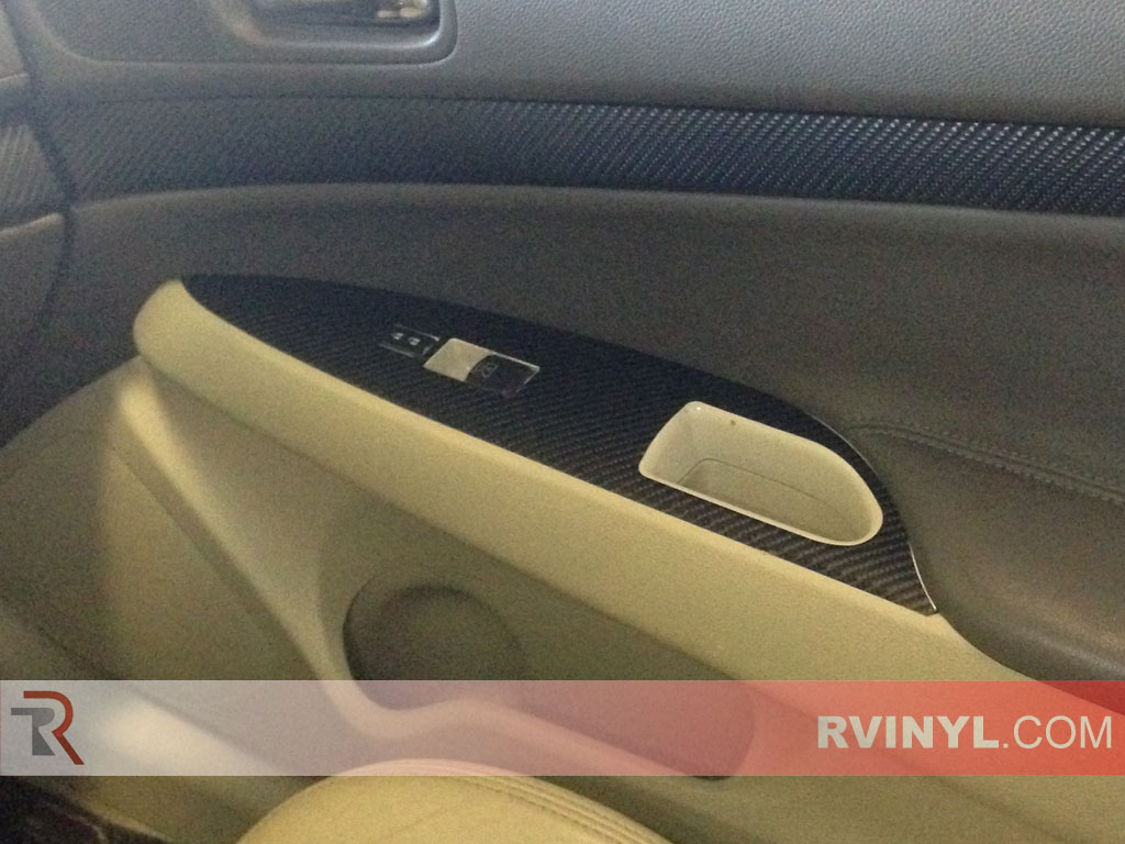 Silver Sedan Rvinyl Rdash Dash Kit Decal Trim for Infiniti G35 2007-2008 - Carbon Fiber 4D