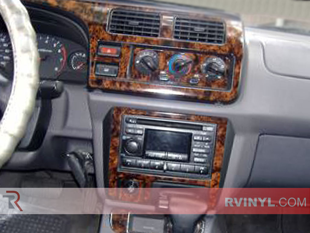 Nissan Frontier 2001 Wooden Dash Kits WIth Customized Center Console