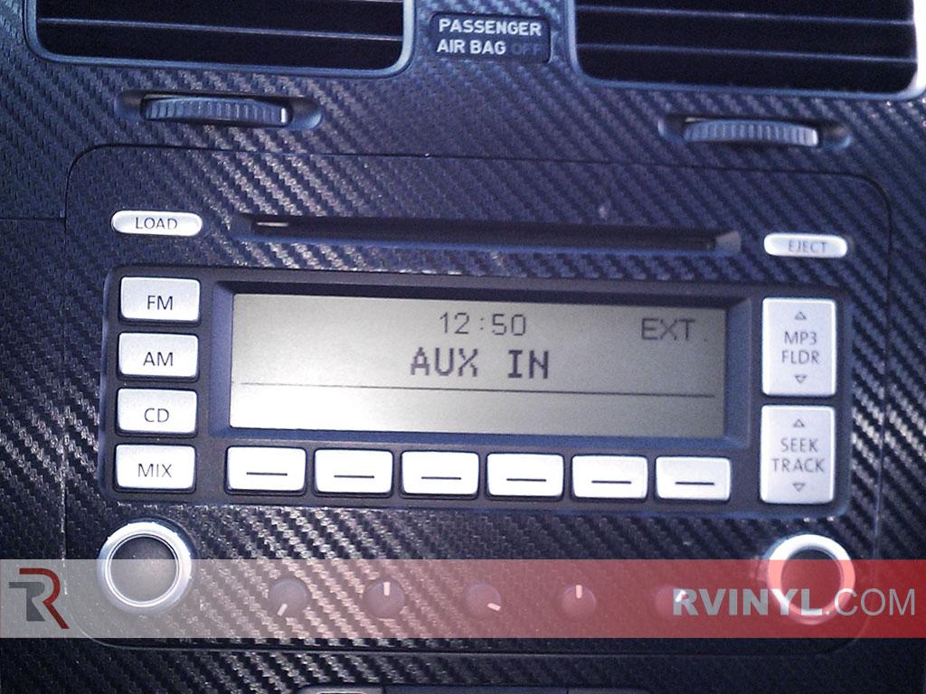 Rvinyl Rdash Dash Kit Decal Trim for Volkswagen Jetta 2006-2010 Aluminum Brushed Black