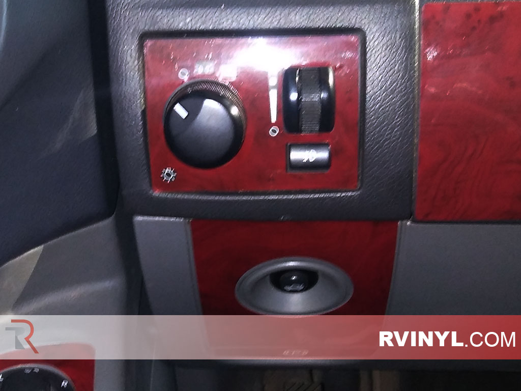 Wood Grain Mahogany Rvinyl Rdash Dash Kit Decal Trim for Chrysler 300 2005-2007