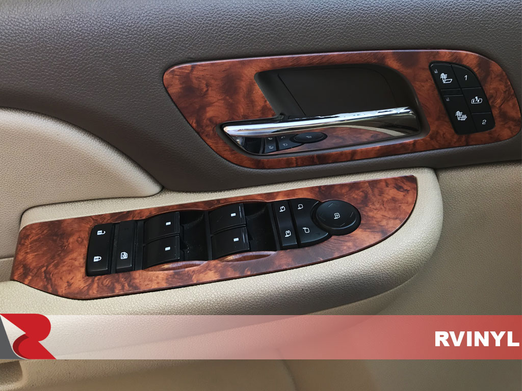 Rdash 2007 GMC Yukon Driver Door Controls With Burlwood Honey Dash Trim