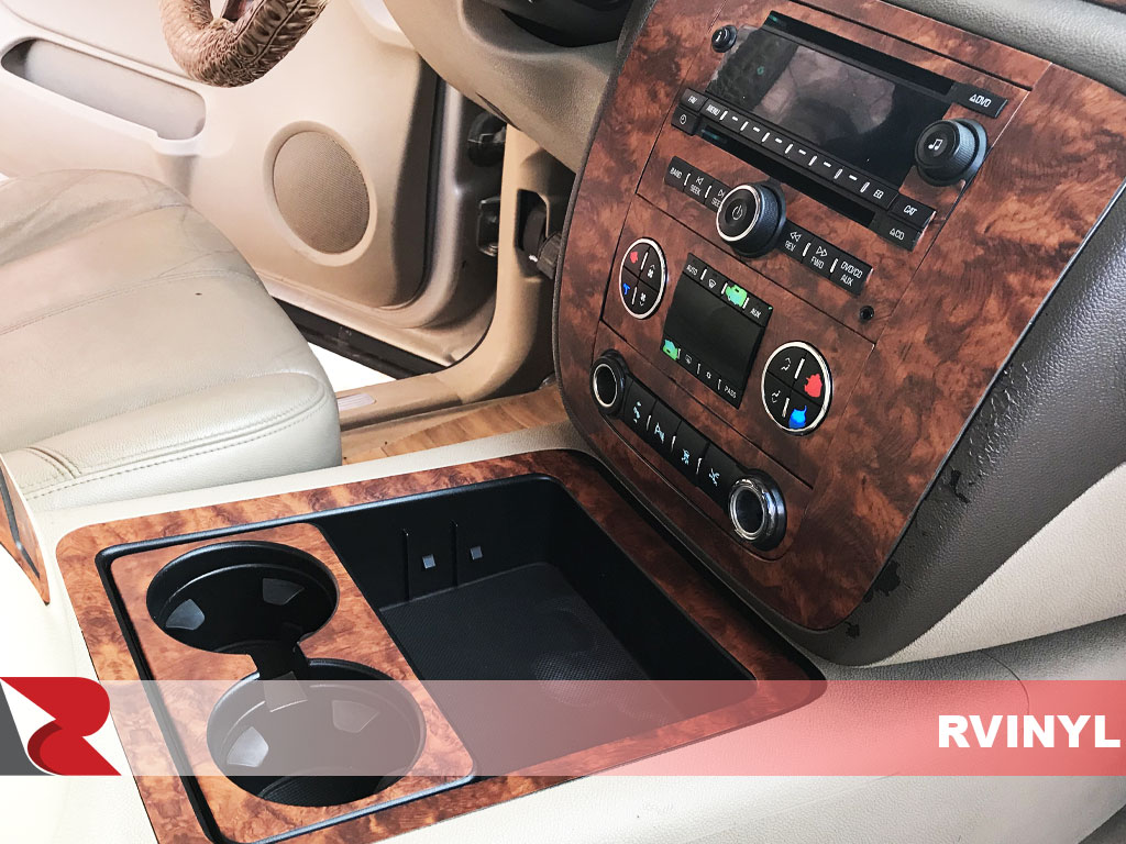Rdash 2007 GMC Yukon Installed Cupholders With Burlwood Honey Dash Trim