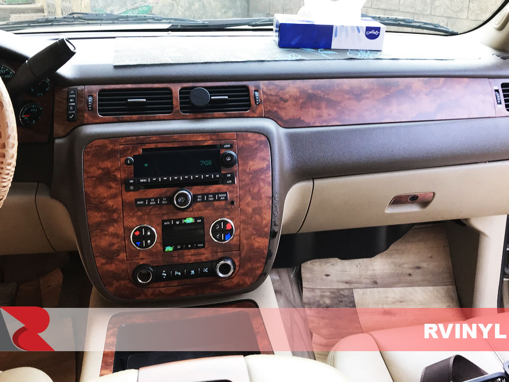 Rdash 2007 GMC Yukon With Burlwood Honey Dash Trim