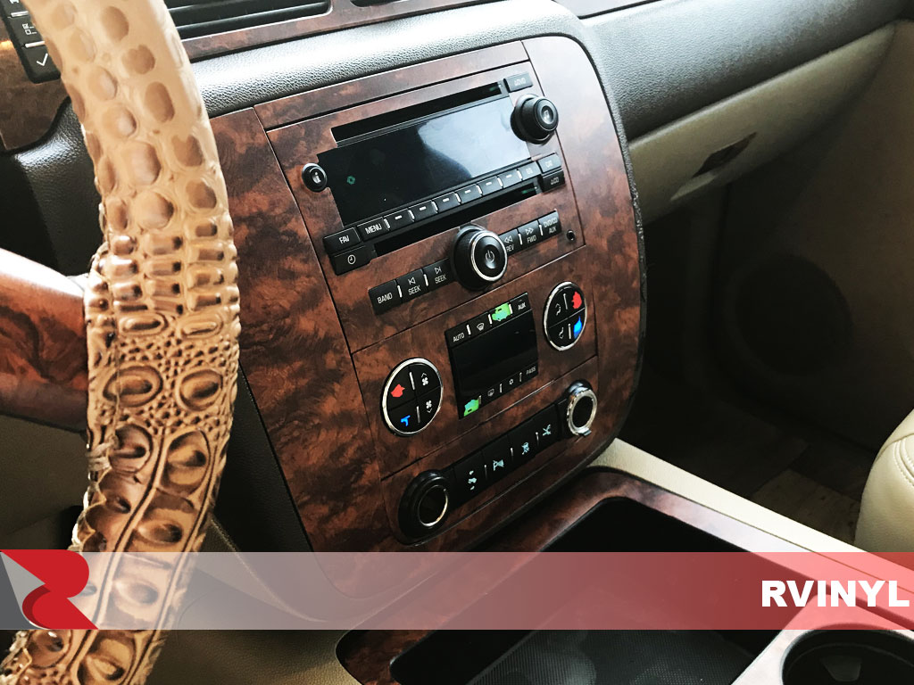Rdash 2007 GMC Yukon DIY Dash Kit With Burlwood Honey Vinyl