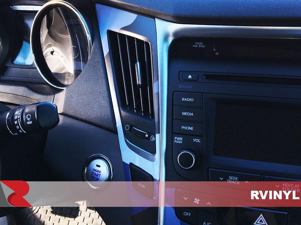 2017 Rdash Trade Hyundai Sonata Blue Camo Dash Kit
