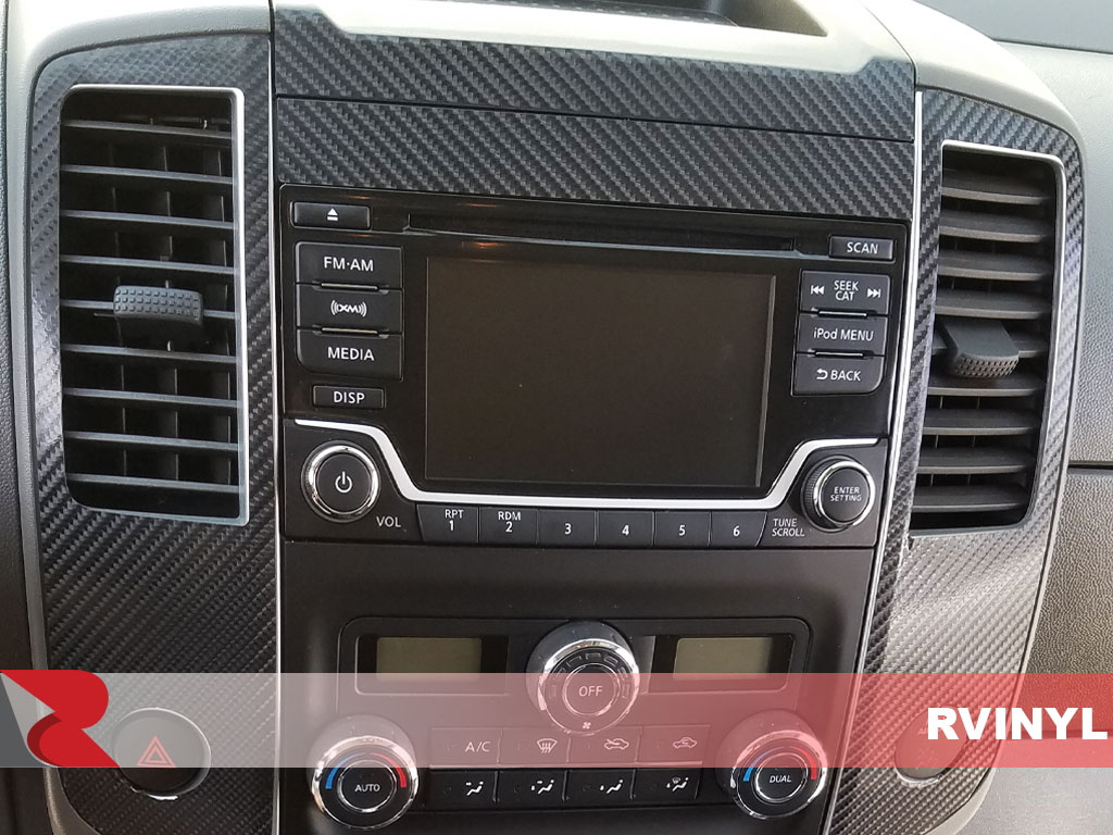 Rdash 2013 Nissan Frontier Center Console with Carbon Fiber 3D Black Dash Kit