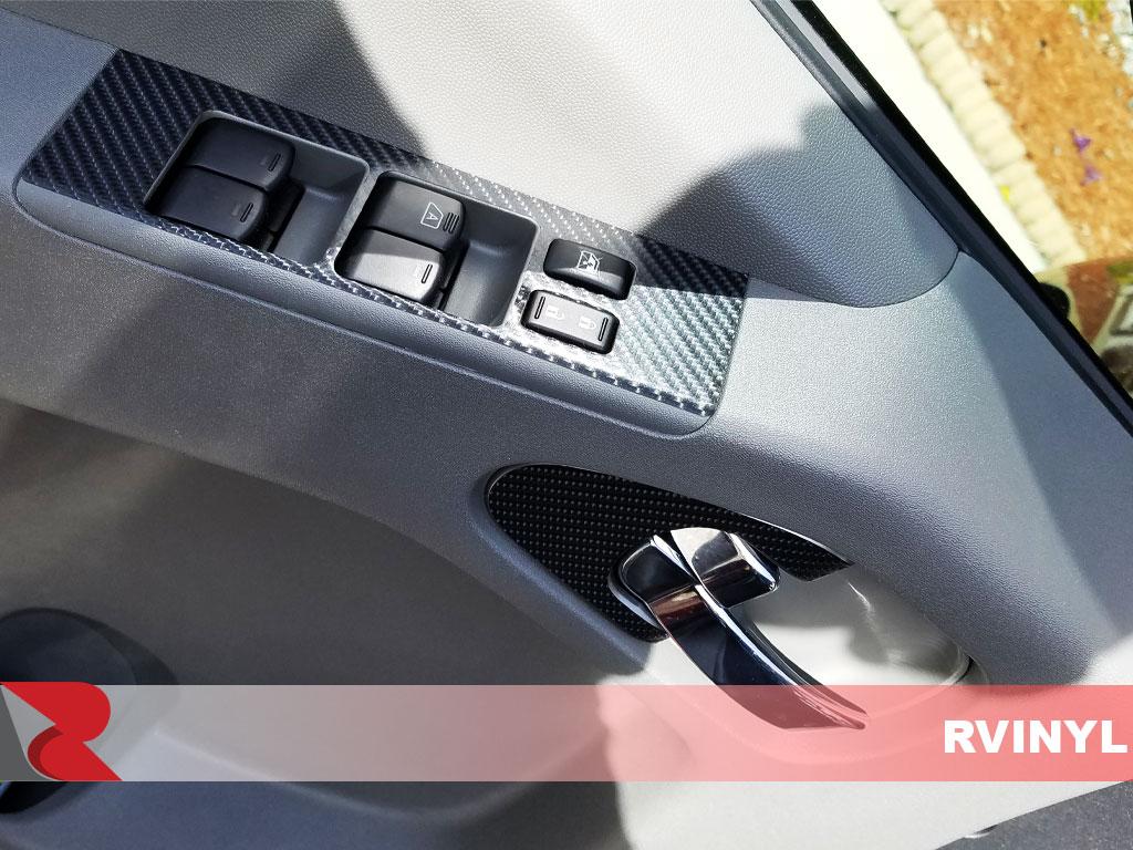 Rdash 2013 Nissan Frontier Window Controls with Carbon Fiber 3D Black Dash Trim