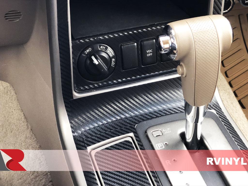 Black Rvinyl Rdash Dash Kit Decal Trim for Ram 1500 2016-2018 - Carbon Fiber 4D Bucket Seats