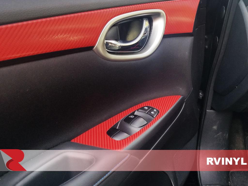 Blue Carbon Fiber 3D Rdash Dash Kit Decal Trim for Nissan Sentra 2013-2017