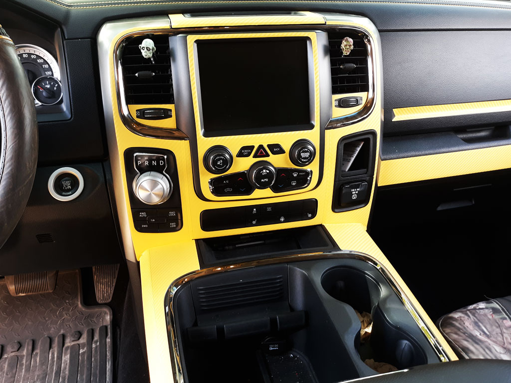 Rdash Rdash™ Ram 1500 Precut Dash Trim With 3D Carbon Fiber Yellow