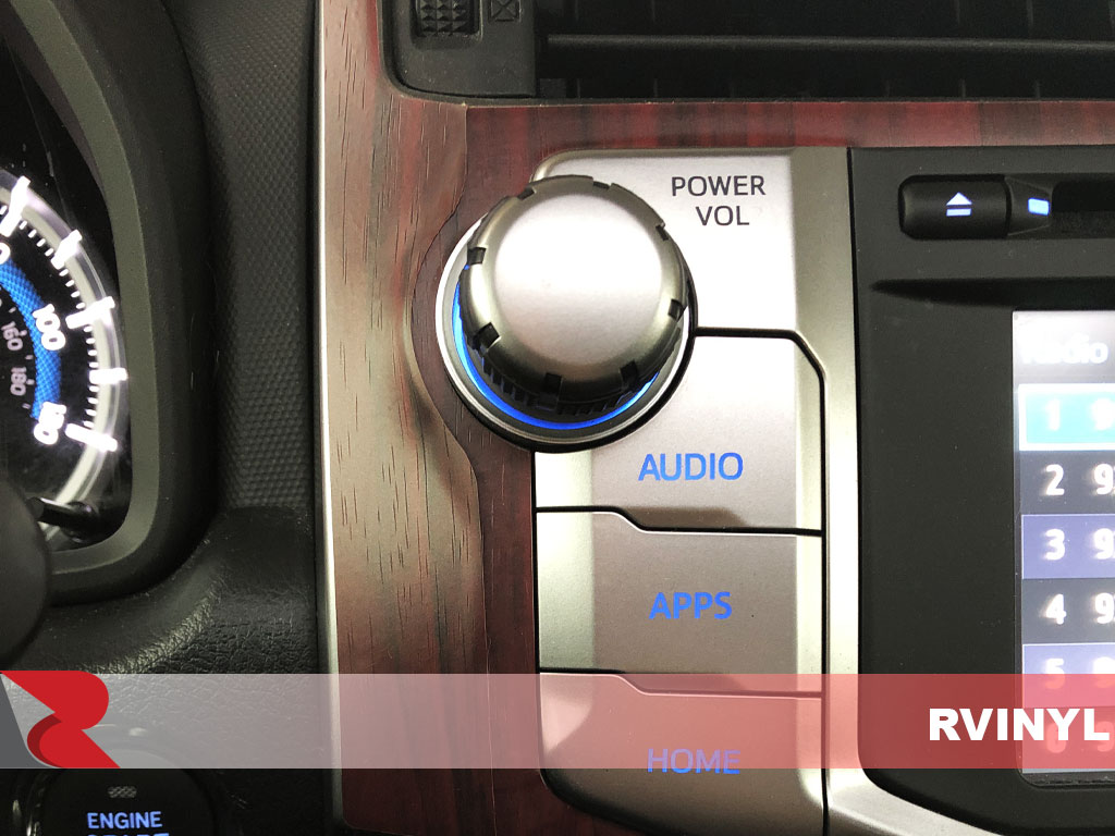 Rdash 2015 Toyota 4Runner Wood Grain Mahogany Audio Control Trim