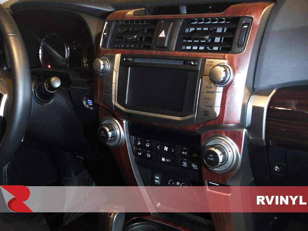 Rdash 2015 Toyota 4Runner Wood Grain Mahogany DIY Dash Trim