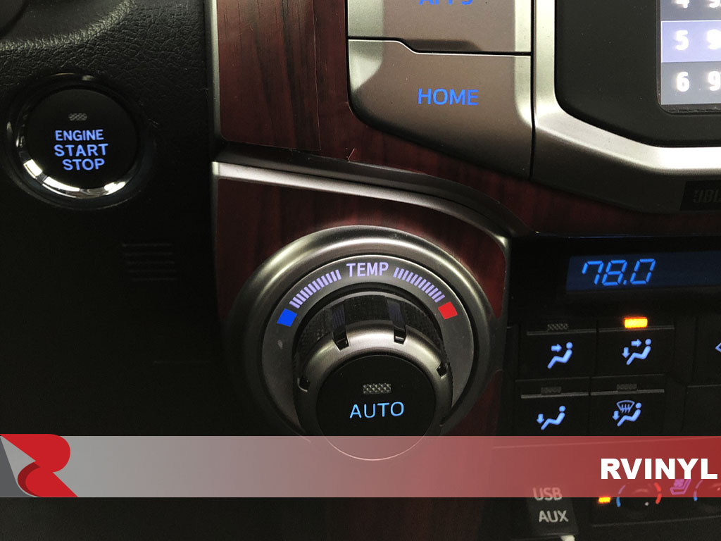 Rdash 2015 Toyota 4Runner Wood Grain Mahogany Climate Control Trim