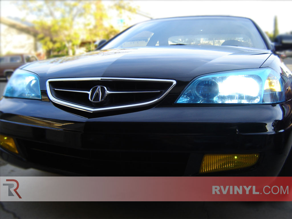 rtint acura cl 2001 2003 headlight tint film. Black Bedroom Furniture Sets. Home Design Ideas