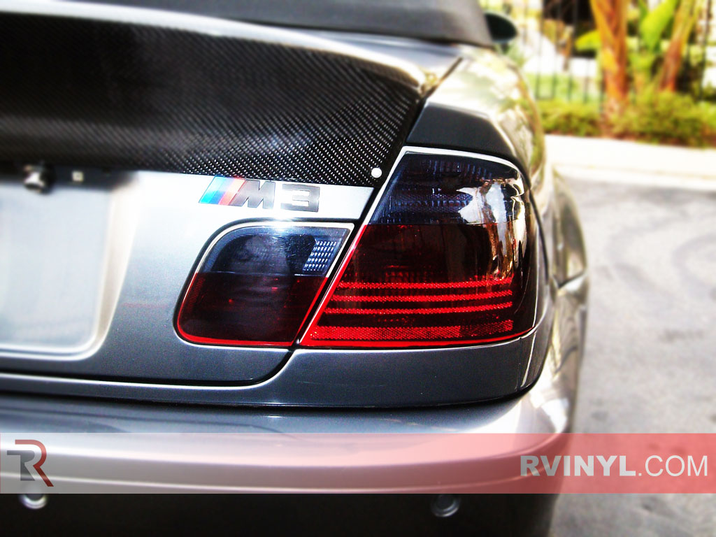 rtint bmw 3 series coupe 2001 2007 tail light tint film. Black Bedroom Furniture Sets. Home Design Ideas