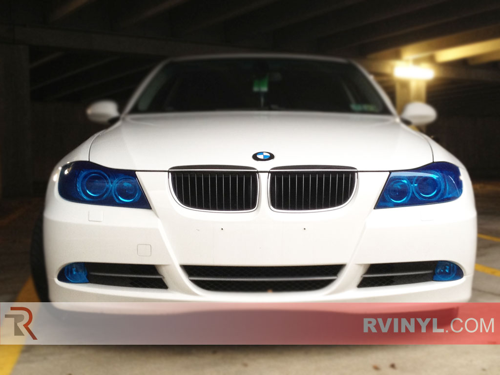 BMW 3-Series 2006-2011 Blue Headlight Covers