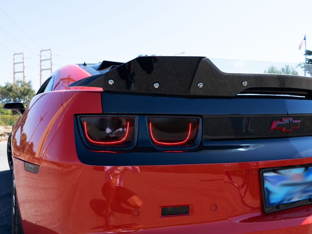 Rtint Tail Light Tint Covers for Chevrolet Camaro 2010-2013 Blackout Smoke