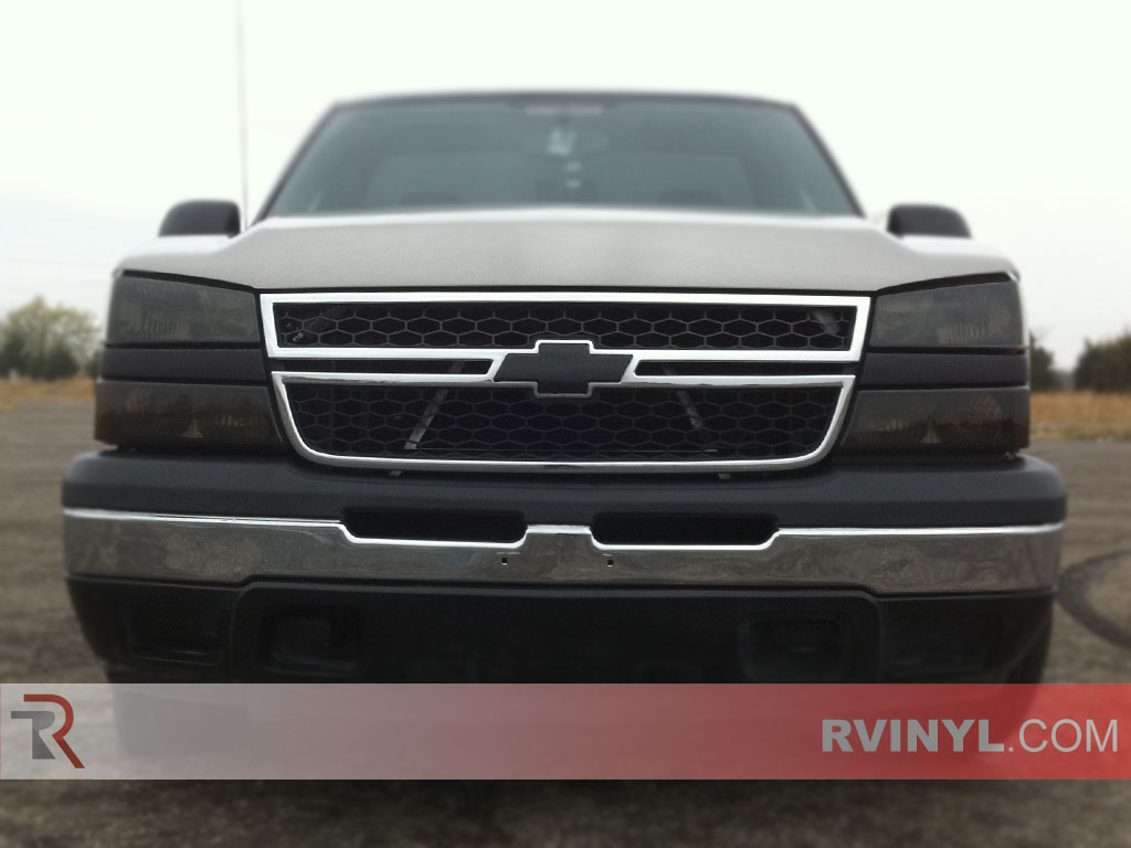 Chevrolet Silverado 2003 2006 Smoked Headlights