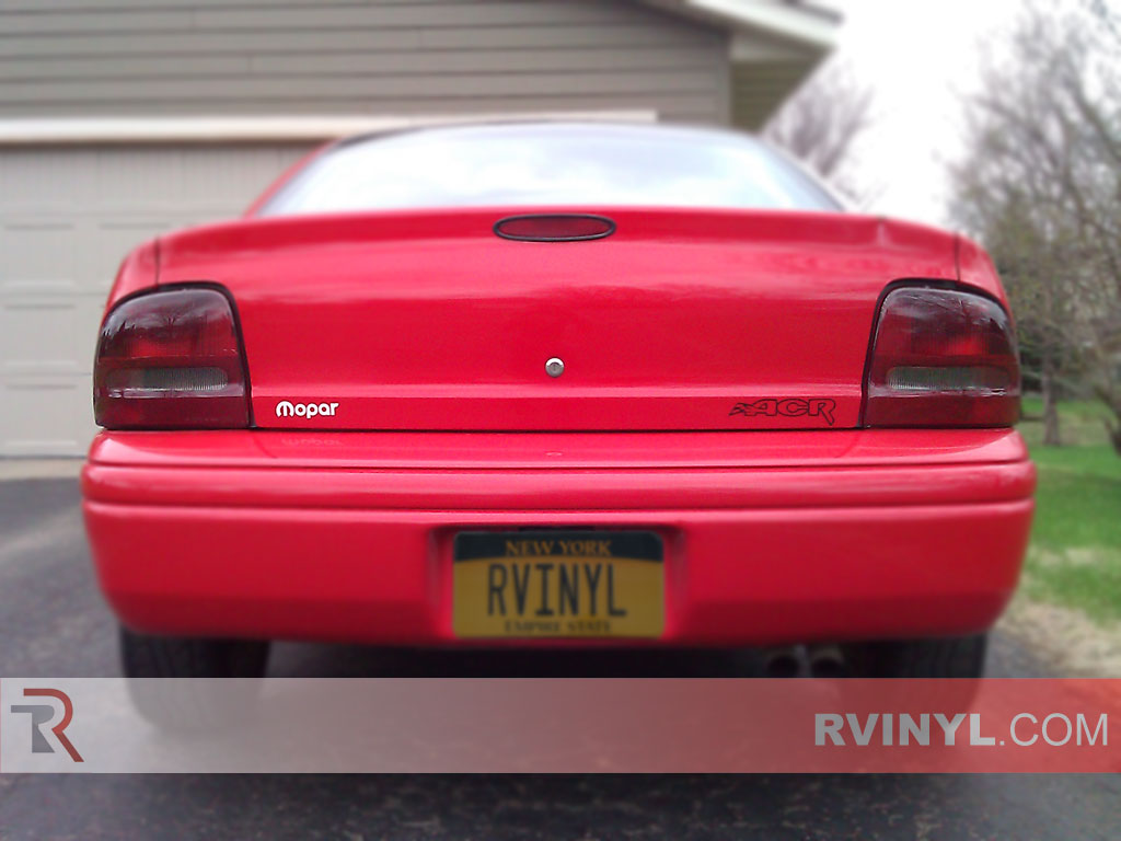 rtint dodge neon 1995 1999 tail light tint film. Black Bedroom Furniture Sets. Home Design Ideas