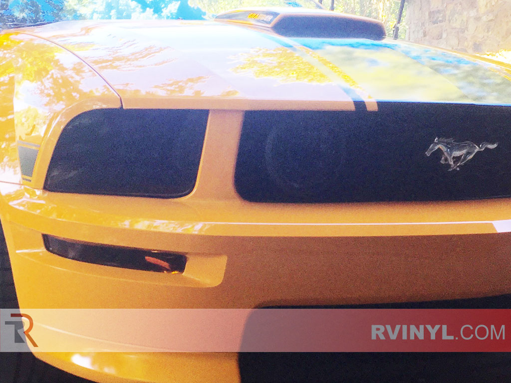 Ford Mustang Static Cling Headlight Tints