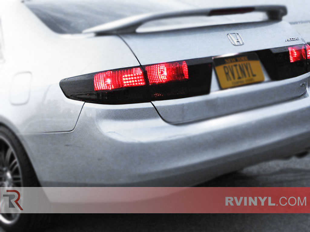 Honda Accord Sedan 2003 2005 Smoked Tail Lamps