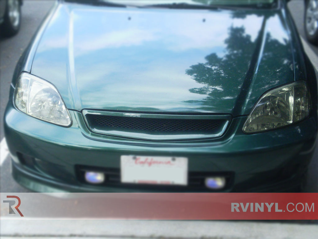 rtint honda civic   headlight tint film