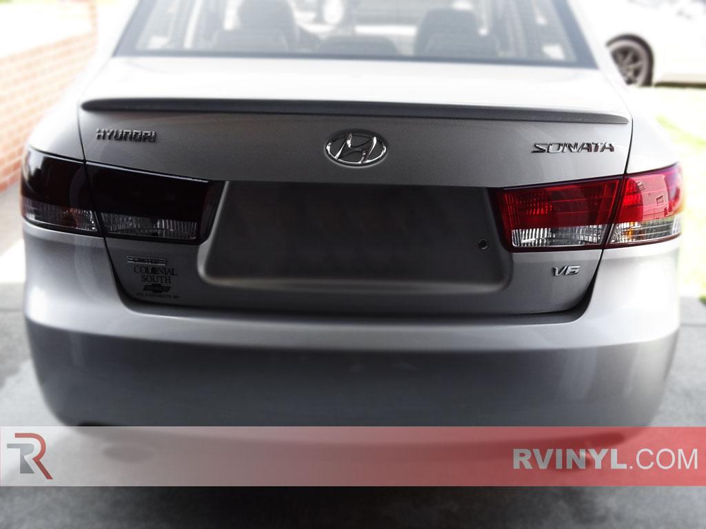 2008 Hyundai Sonata Tail Lights Light Wiring Rtint Tint Film 1024x768