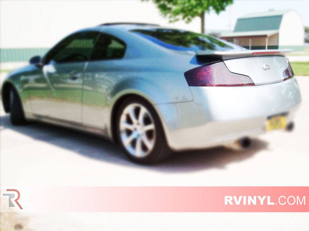 Rtint infiniti g35 coupe 2003 2007 tail light tintfilm infiniti g35 coupe 2003 2007 smoked tail lights vanachro Gallery