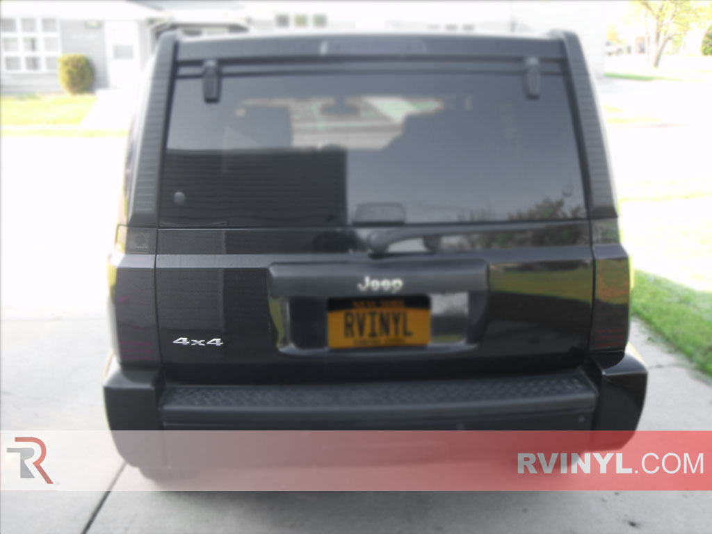 Jeep Commander 2006 2010 Tail Light Covers rtint� jeep commander 2006 2010 tail light tint film 2007 jeep grand cherokee tail light wiring diagram at mifinder.co