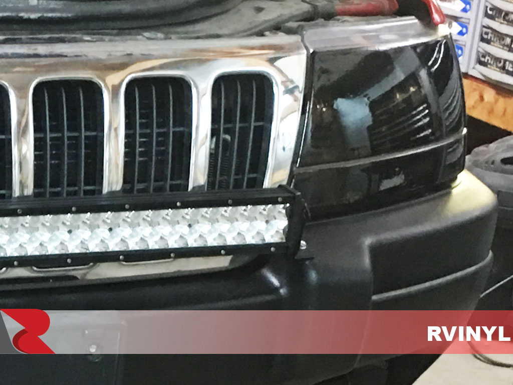 Rtint� Jeep Grand Cherokee 1999-2003 Headlight Tint Blackout