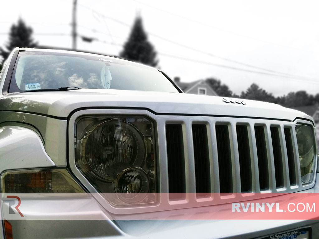 Rvinyl Rtint Headlight Tint Covers for Jeep Grand Cherokee 2008-2010 Application Kit