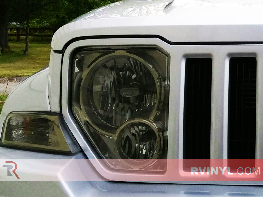 Jeep Liberty 2008-2012 Headlight Tint - Smoke