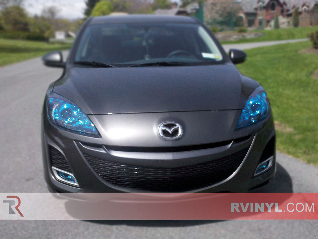 Rtint Mazda Mazda3 2010 2013 Headlight Tint Film 3 Fog Light Wiring Diagram Precut