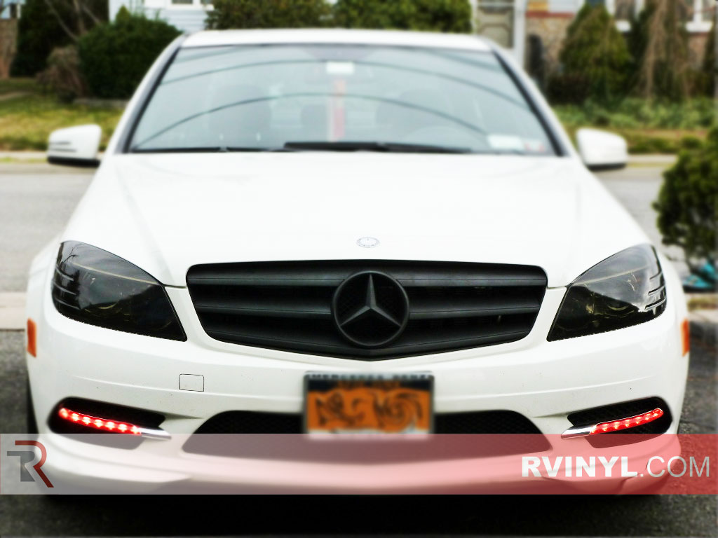 Rtint mercedes benz c class sedan 2005 2008 2011 for Mercedes benz blue window tint
