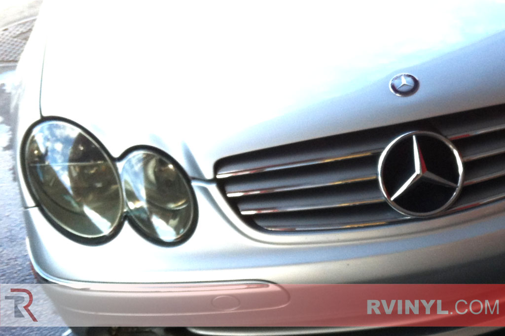 Rtint mercedes benz clk class coupe convertible 2001 for Mercedes benz blue window tint