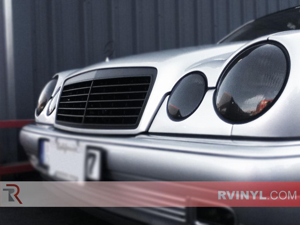 Rtint mercedes benz e class sedan 2000 2002 headlight for Mercedes benz blue window tint